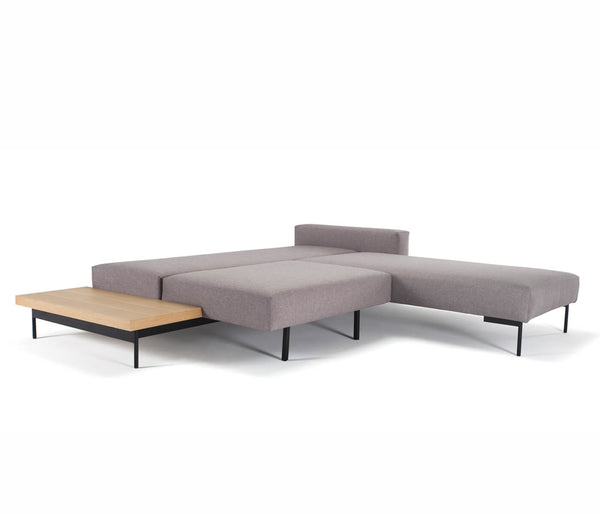 Sofá cama con chaiselongue Bragi con mesa-Innovation - Galeahome
