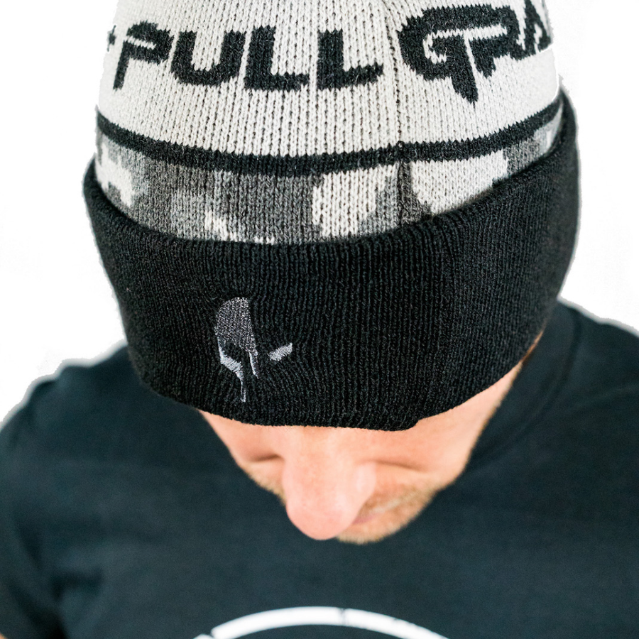 Grab+Pull Winter Camo Beanie