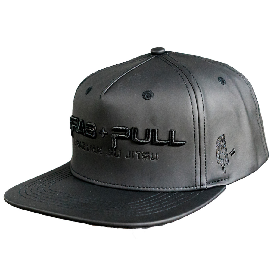 Grab and Pull Original Snapback, Black PU Leather