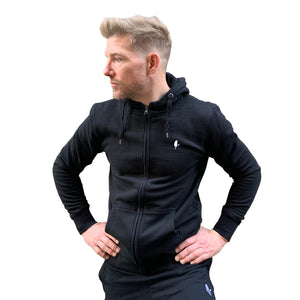 High Neck Hoodie, Black