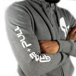 High Neck Hoodie, Grey