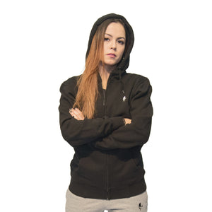 High Neck Hoodie Classic, Black