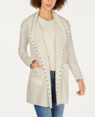 Style & Co Petite Stud-Trim Hooded Cardigan-Atmark Trading