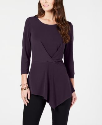 Alfani Petite Twisted Asymmetrical Top-Atmark Trading