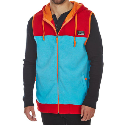 Free Nature Guys' Hooded Polar Fleece Zip-Up Vest-Atmark Trading