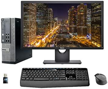 "Dell Optiplex 3010 SFF Desktop Bundle Core i5 3.2GHz with 24"" Monitor Windows 10 Pro Refurbished"