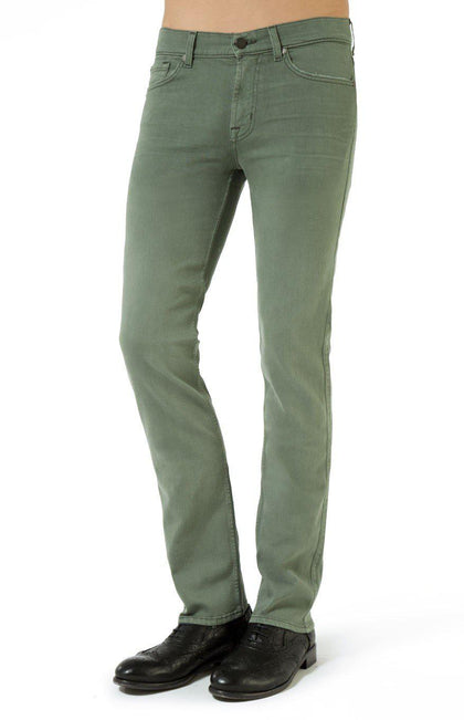 7 For All Mankind Men's Slimmy Slim Straight Trouser Green-Atmark Trading
