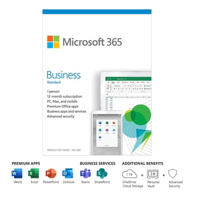 Microsoft 365 Business Standard 1 Year Subscription-Atmark Trading
