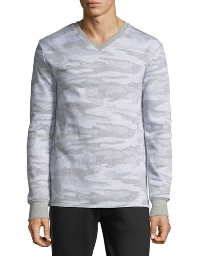 Karl Lagerfeld Paris Men's Camo V-Neck Sweater-Atmark Trading