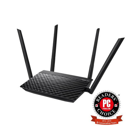 Asus RT-AC1200GE AC1200 Dual-Band Wi-Fi Router with MU-MIMO and Parental Controls for smooth streaming 4K videos from Youtube and Netflix