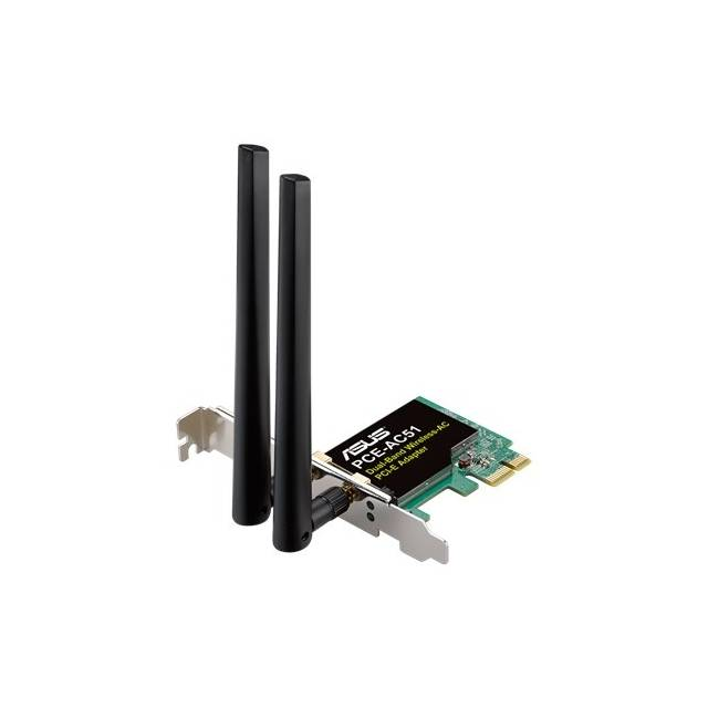 Asus PCE-AC51 Wireless AC750 PCIe Adapter Card for Dual-Band 2x2 802.11AC WiFi