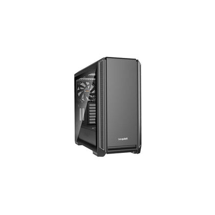 be quiet! Silent Base 601 SILVER Mid-Tower ATX Computer Case w- Window, Two 140mm Fans, 10mm Extra Thick insulation mats (BGW27)-Atmark Trading