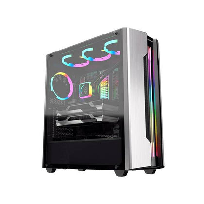 Cougar Gemini S Silver No Power Supply Mid Tower Case w- Window (Sliver)-Atmark Trading