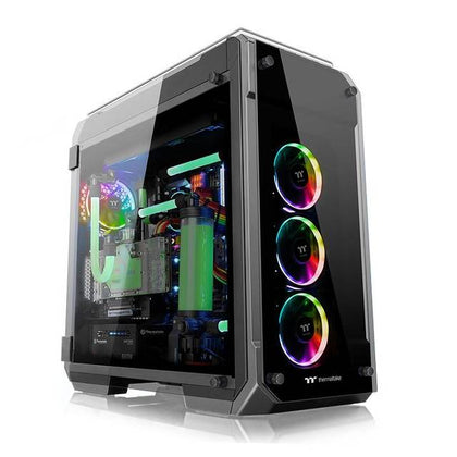 Thermaltake View 71 Tempered Glass RGB Edition CA-1I7-00F1WN-01 No Power Supply ATX Full Tower (Black)-Atmark Trading