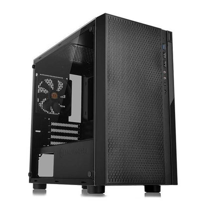 Thermaltake Versa H18 Tempered Glass Edition CA-1J4-00S1WN-01 No Power Supply MicroATX Case (Black)-Atmark Trading