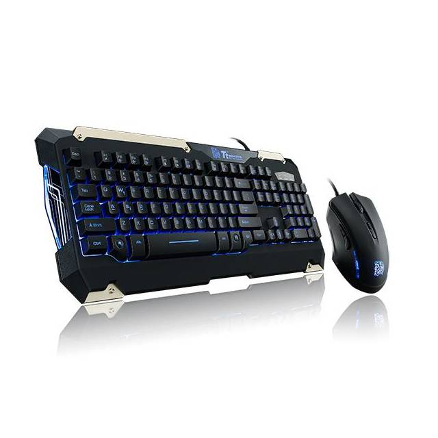 Thermaltake Tt eSPORTS KB-CMC-PLBLUS-01 USB Wired Commander Gaming Gear Keyboard & Mouse Combo-Atmark Trading