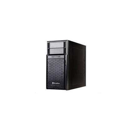 SilverStone SST-PS08B No Power Supply MicroATX Case (Black)-Atmark Trading