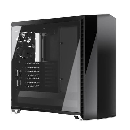 Fractal Design FD-C-VER1A-01 Vector RS Blackout ATX Silent Modular Tempered Glass Window Mid Tower Computer Case with ARGB LED strip and Adjust R1 RG-Atmark Trading