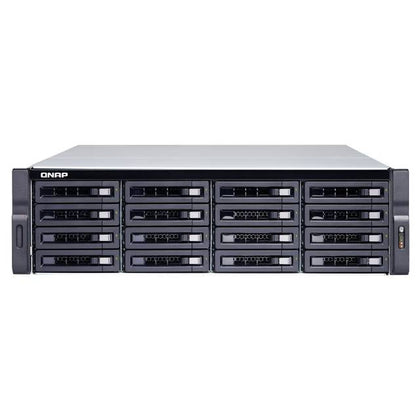 QNAP TS-1683XU-RP-E2124-16G-US Intel Xeon E-2124 3.3GHz- 16GB DDR4- 6GbE- 16SATA- USB3.1- 16-Bay 3U Rackmount NAS for Enterprise-Atmark Trading