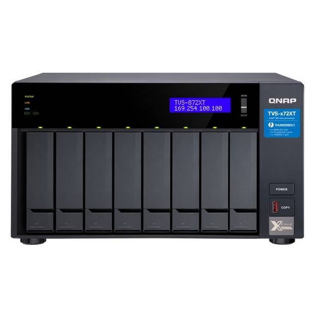 QNAP TVS-872XT-I5-16G-US Intel Core i5-8400T 1.7GHz- 16GB RAM- 6GbE- 8SATA3- USB3.0- 8 Bay Desktop NAS for SMBs-Atmark Trading