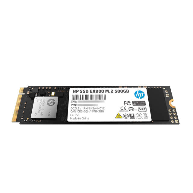 HP EX900 Series M.2 500GB PCI-Express 3.0 x4 NVMe Internal Solid State Drive-Atmark Trading