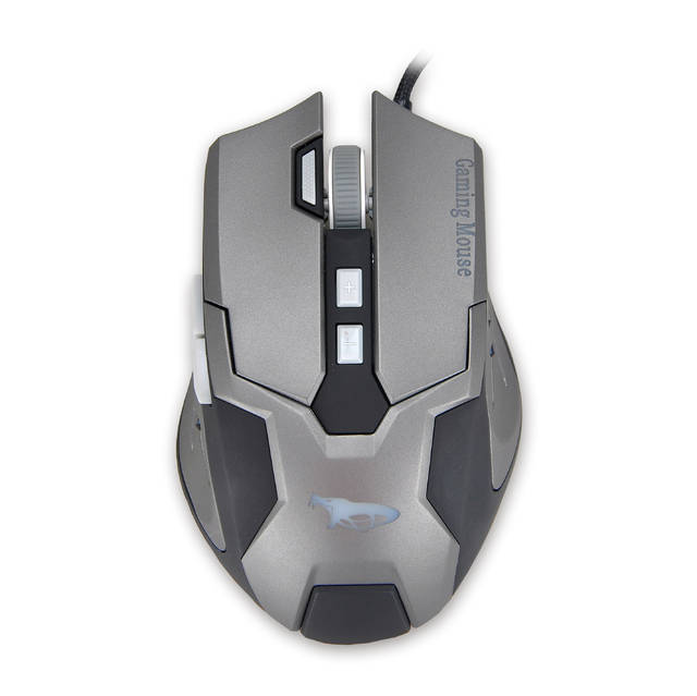 iMicro Cobra IM-COBZ2 USB Wired Optical Mouse (Black&Space Gray)-Atmark Trading