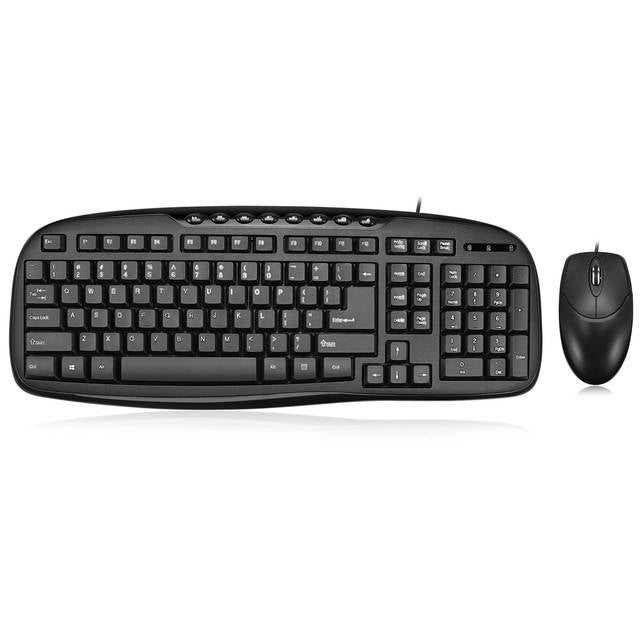 Adesso AKB-133CB EasyTouch Desktop USB Multimedia Keyboard and Mouse Combo-Atmark Trading
