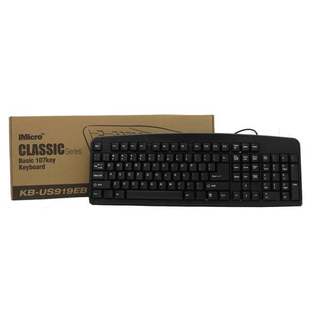 iMicro KB-US919EB Basic Wired USB English Keyboard (Black)