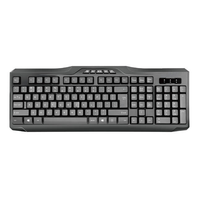 iMicro KB-US9851M Multimedia Wired USB English Keyboard (Black)-Atmark Trading