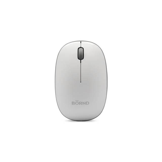 Bornd E220 Wireless 2.4Ghz Optical Mouse (White)-Atmark Trading