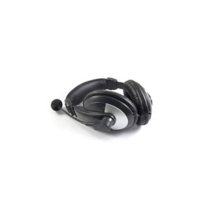 iMicro IM750BM Wired 3.5mm Leather Headset w- Microphone-Atmark Trading