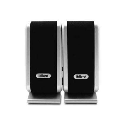 iMicro SP-IMD168B 3.5mm input USB powered 2.0 Channel Multimedia Speaker System (Black)