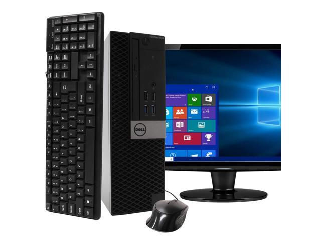 "Dell Optiplex 5040 SFF Desktop Bundle Core i3 3.7Ghz with 22"" Monitor Windows 10 Pro, Refurbished"