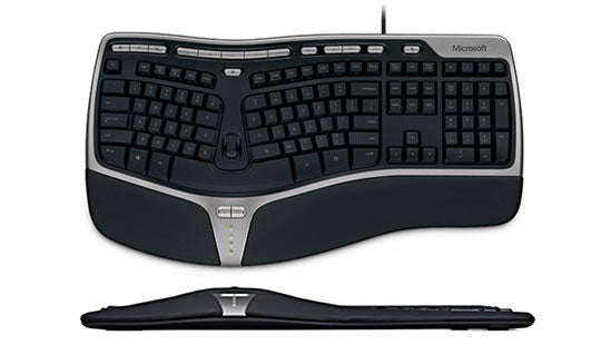 Microsoft Natural Erognomic Keyboard 4000, Black, Refurbished-Atmark Trading