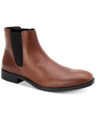 Calvin Klein Men's Corin Tumbled Leather Chelsea Boot-Atmark Trading