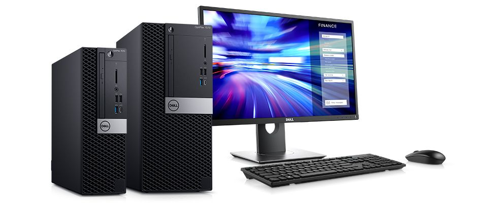 "Dell Optiplex 7070 Desktop 9th Gen Core i7 3.0Ghz Bundle with 22"" Monitor Windows 10 Refurbished"
