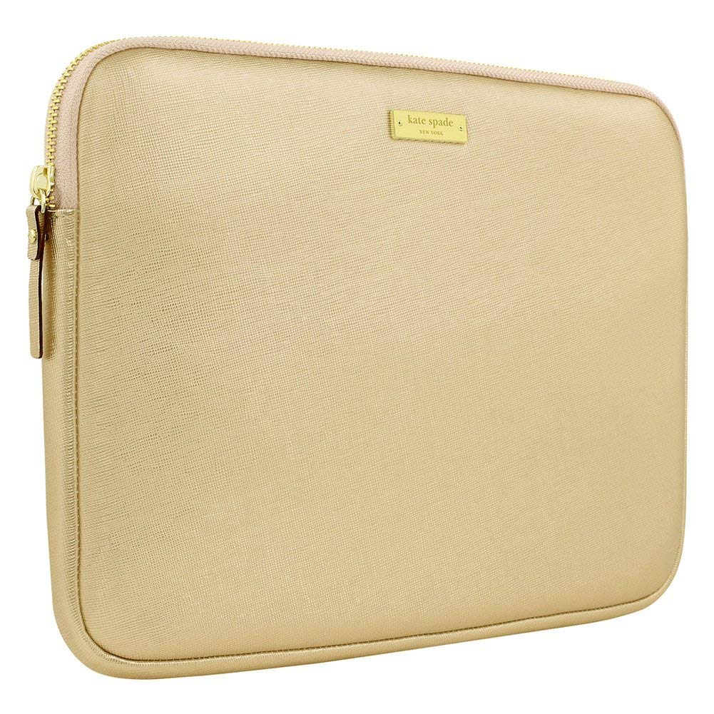 "Kate Spade 12.5"" Saffiano Sleeve for Surface Pro in Metallic Gold"