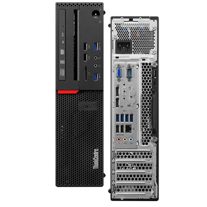 "Lenovo M920s SFF Desktop Bundle Intel Core i5 3.0Ghz with 24"" Monitor Windows 10 Pro, Factory Refurbished"