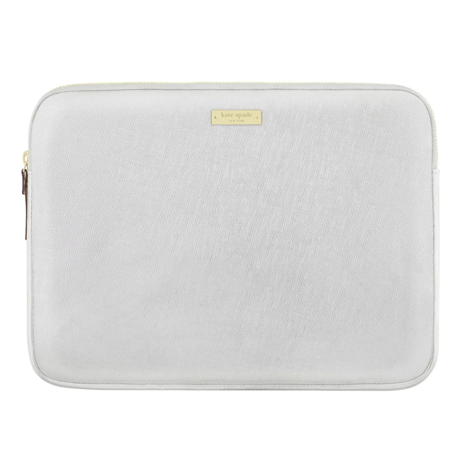 "Kate Spade 12.5"" Saffiano Sleeve for Surface Pro in Metallic Silver"