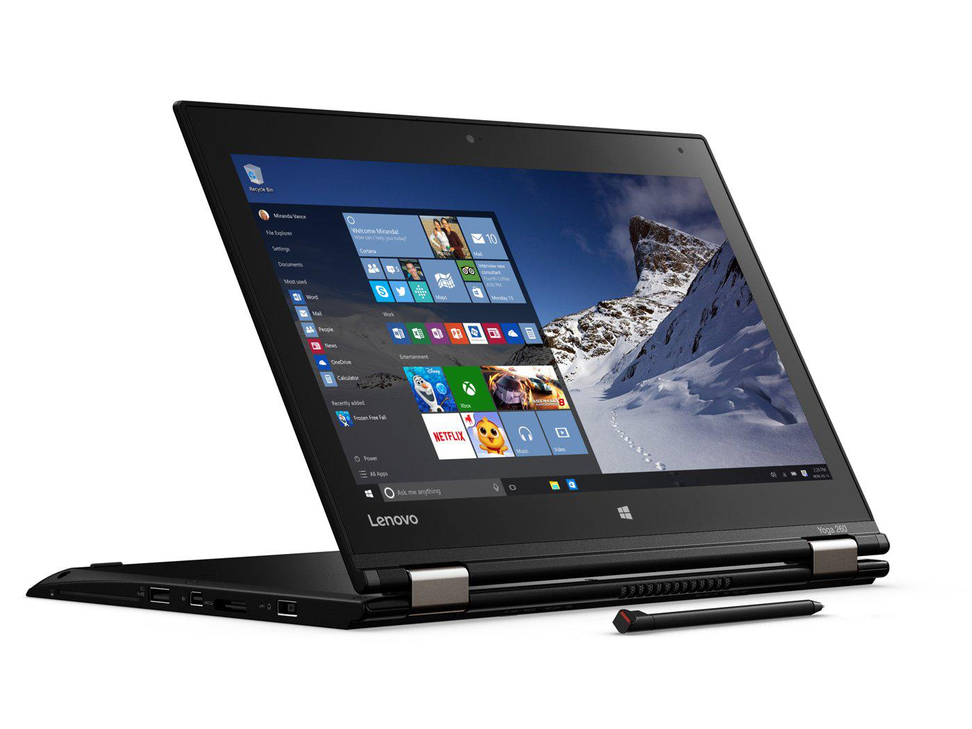 "Lenovo Thinkpad Yoga 260 12.5"" Touchscreen Laptop Intel Core i5 2.4Gz B Grade Windows 10 Refurbished"