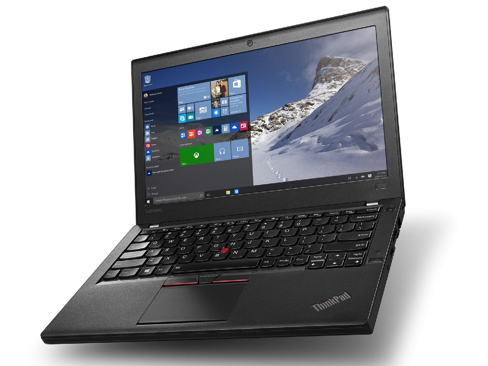 "Lenovo Thinkpad X260 12.5"" Laptop Intel Core i5 2.4Ghz, Windows 10 Pro, Refurbished"
