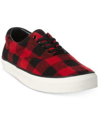 Thompson Red Buffalo Check Slip-on Pony Sneakers-Atmark Trading