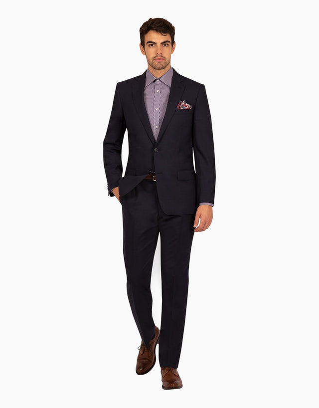 Lewis navy two trouser suit