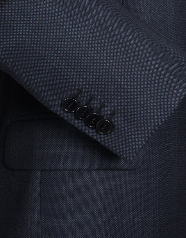 Cooper Navy Birdseye Check Suit Jacket