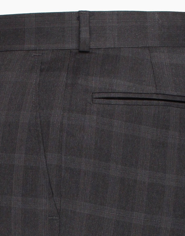 Cooper charcoal check two piece suit
