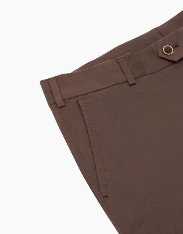 Beck Brown Twill Washed Chinos