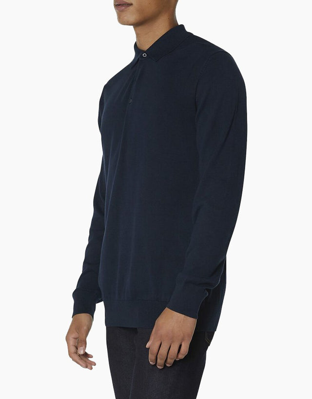 Ben Sherman Navy Knit Polo