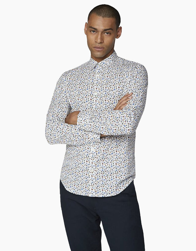 Ben Sherman Off White Multicolour Floral Shirt