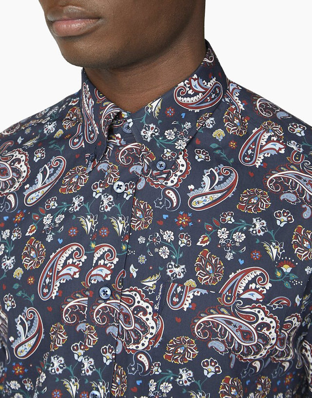 Ben Sherman Navy Paisley Shirt