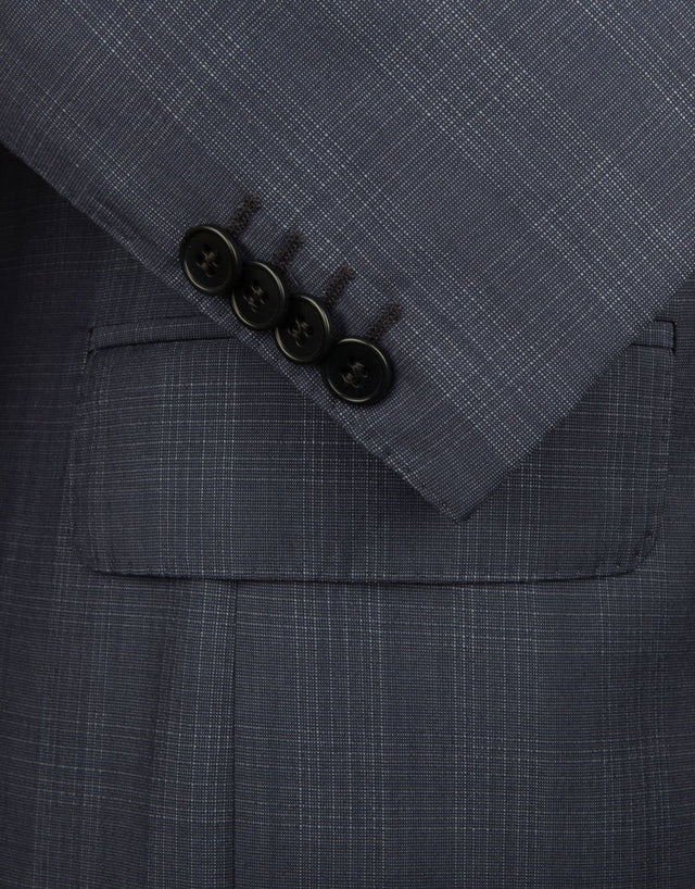 Gresham Blue Check Suit Jacket